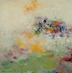 권영범3, 어떤여행 (un Voyage), 29 x 29 cm, oil