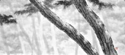 오후한담, 40x90cm, 수묵, 2018