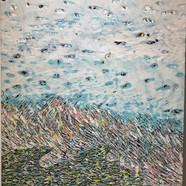 016, 김재신, 바다, 53 x 73 cm (20호), 나무판 위에 색 조각, 2019, 800만원