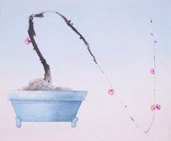 오관진004, 비움과 채움(복을담다),2015,45,5x38,혼합재료
