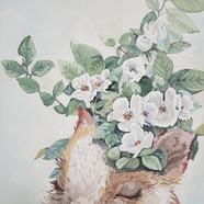 019, 박계숙, 나르시스의 정원-5, 23 x 34 cm, 캔버스에 아