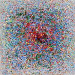 이경성, Thorn tree_A crack, the light, 100 x 100cm, 소멸기법, 2017 (2)