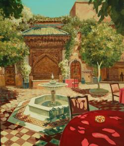 046, 황미정4, 모로코의 정원, 60.6 x 72