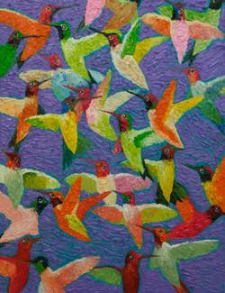 김인2, humminglife2, 50 x 65 cm, oil on ca