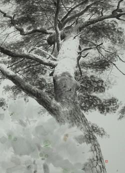 가을볕, 100 x 73 cm, 종이에 먹, 2019, 400만원