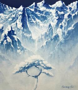 조광기1, 청산사유 (토왕성폭포), 52 x 45 cm, 혼합재료, 20