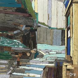 이부강4-2, 옮겨진 풍경 5, 20 x 20 cm, Mixed medi