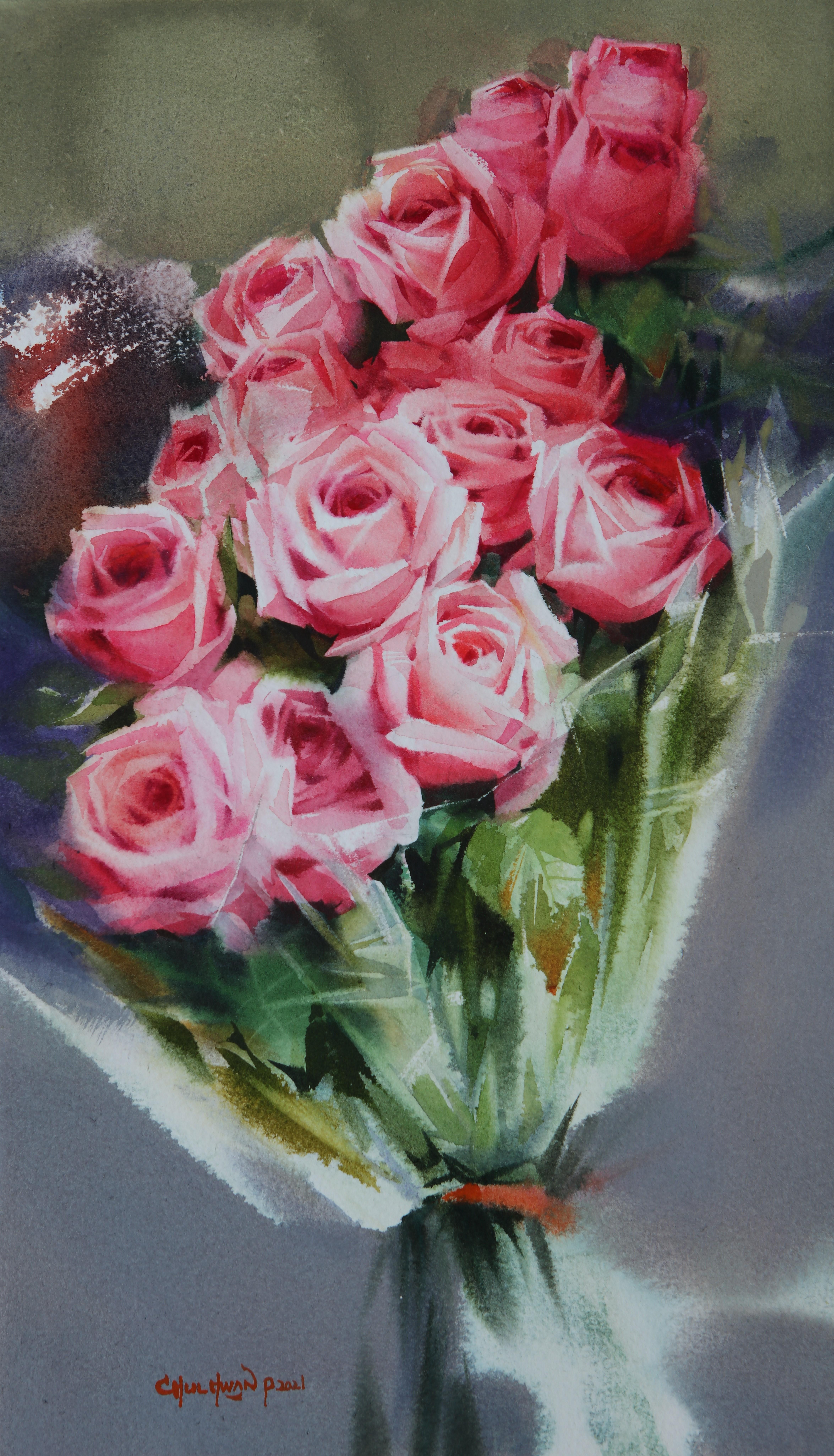 006, 박철환, Rose, 45.5 x 27