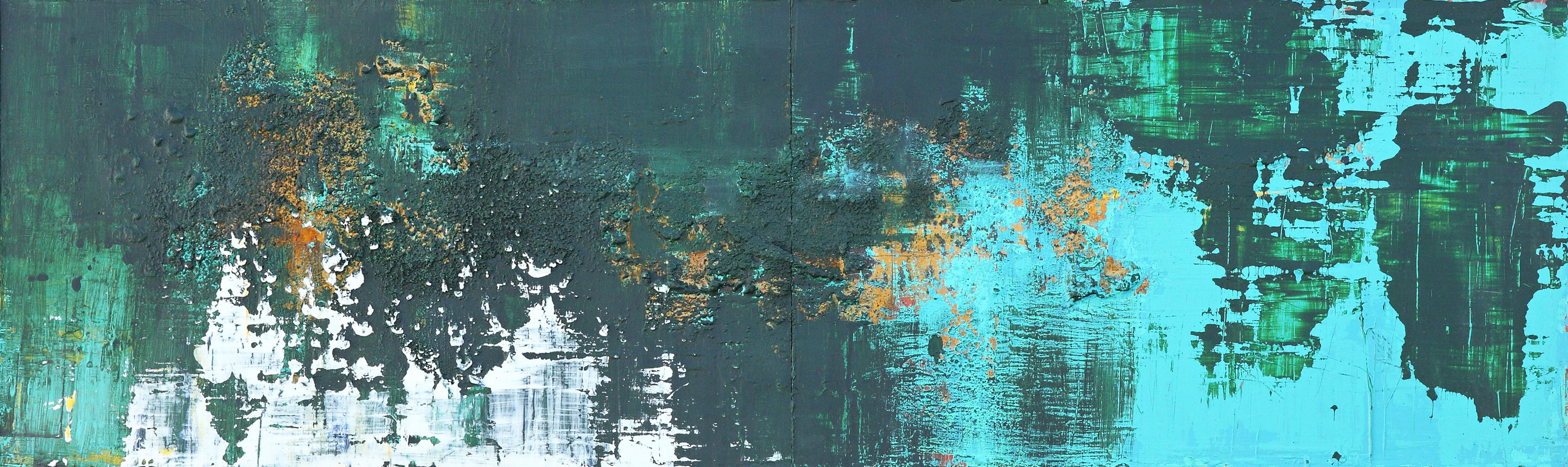 연상록, The Memory, 56x184cm, 아크릴 및 유화, 2017