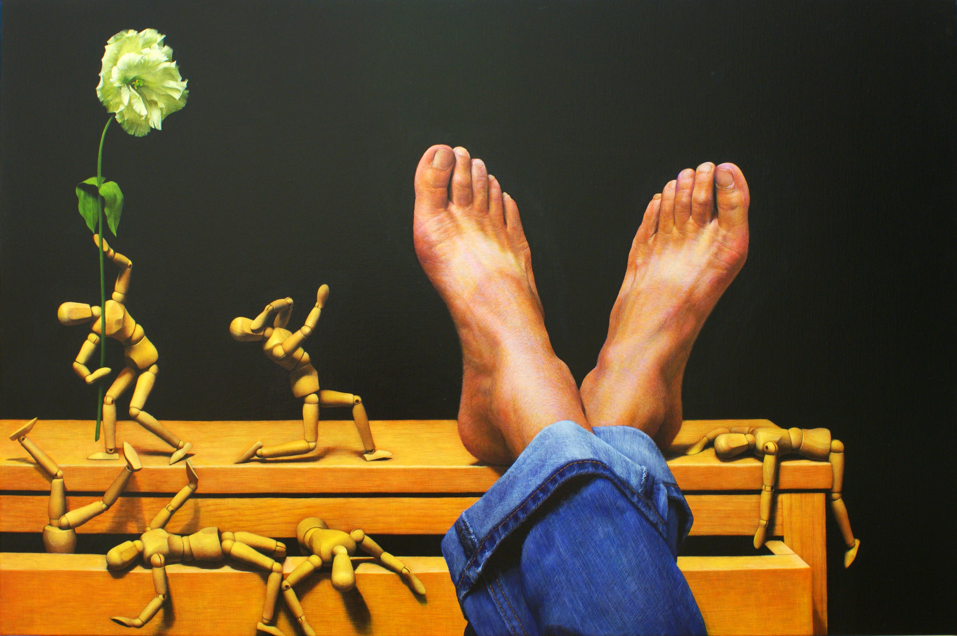 장필교, 그 여름날의 악몽, 86.3x65.1cm, Acrylic on Canvas, 2012
