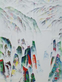 김성호3, 금수강산 19-3, 혼합재료, 41 x 53 cm, 2019.
