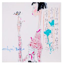 014, alpha girl 2044, 20 x 20 cm, 캔버스 위에