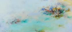 002, 권영범, 어떤여행 (un Voyage), 33 x 70 cm, Oil on canvas, 2021, 300만원