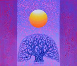 013 Sunrise - Faith , Hope. and. Love, 53x45.5cm, Acrylic on Canvas, 2018