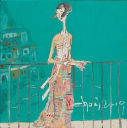 028, 최경자5, 탕헤르 1932, 20 x 20 cm, 한지 위에 혼