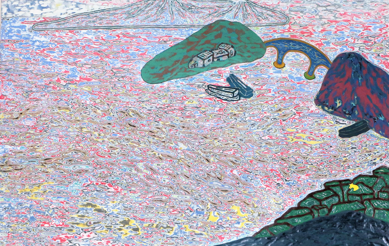 통영풍경(1)_통영풍경, 146x97cm, 조탁기법, 2018