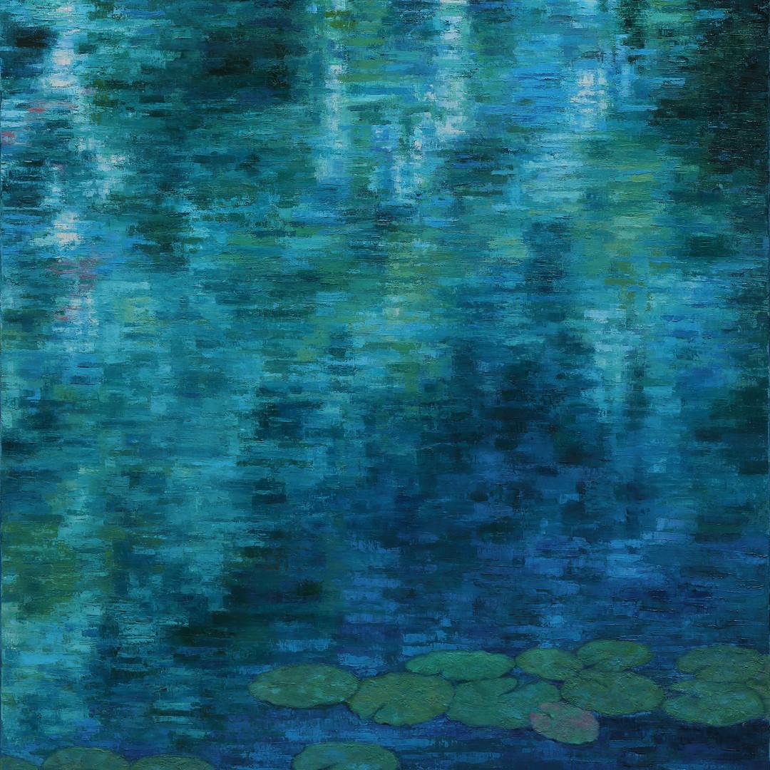 003, 이미경, 수련 이야기, 72.7 x 90.9 cm (30F),