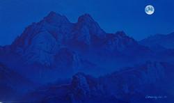 북한산, 27 x 45 cm, acrylic on canvas, 2019