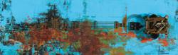 The Memory, 106.5 x 33.5 cm, 아크릴, 유화 및 혼합재료, 2017