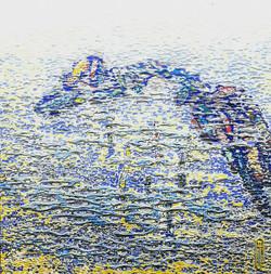014, 김재신, 통영풍경, 35 x 35 cm(6호), 나무판 위 색조
