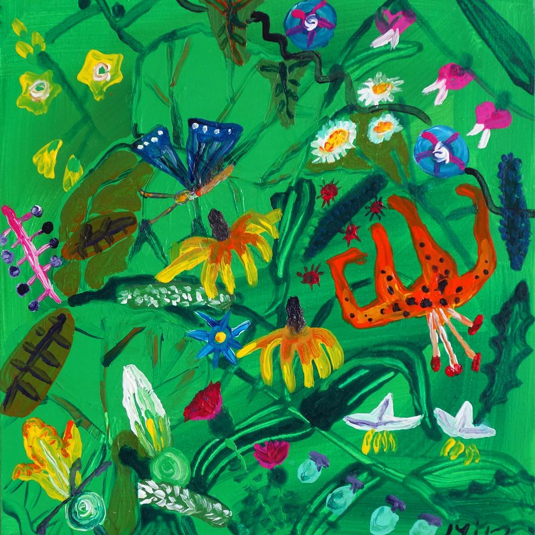 024 민해정수, 여름(3), 37.8 x 37.8 cm, acrylic