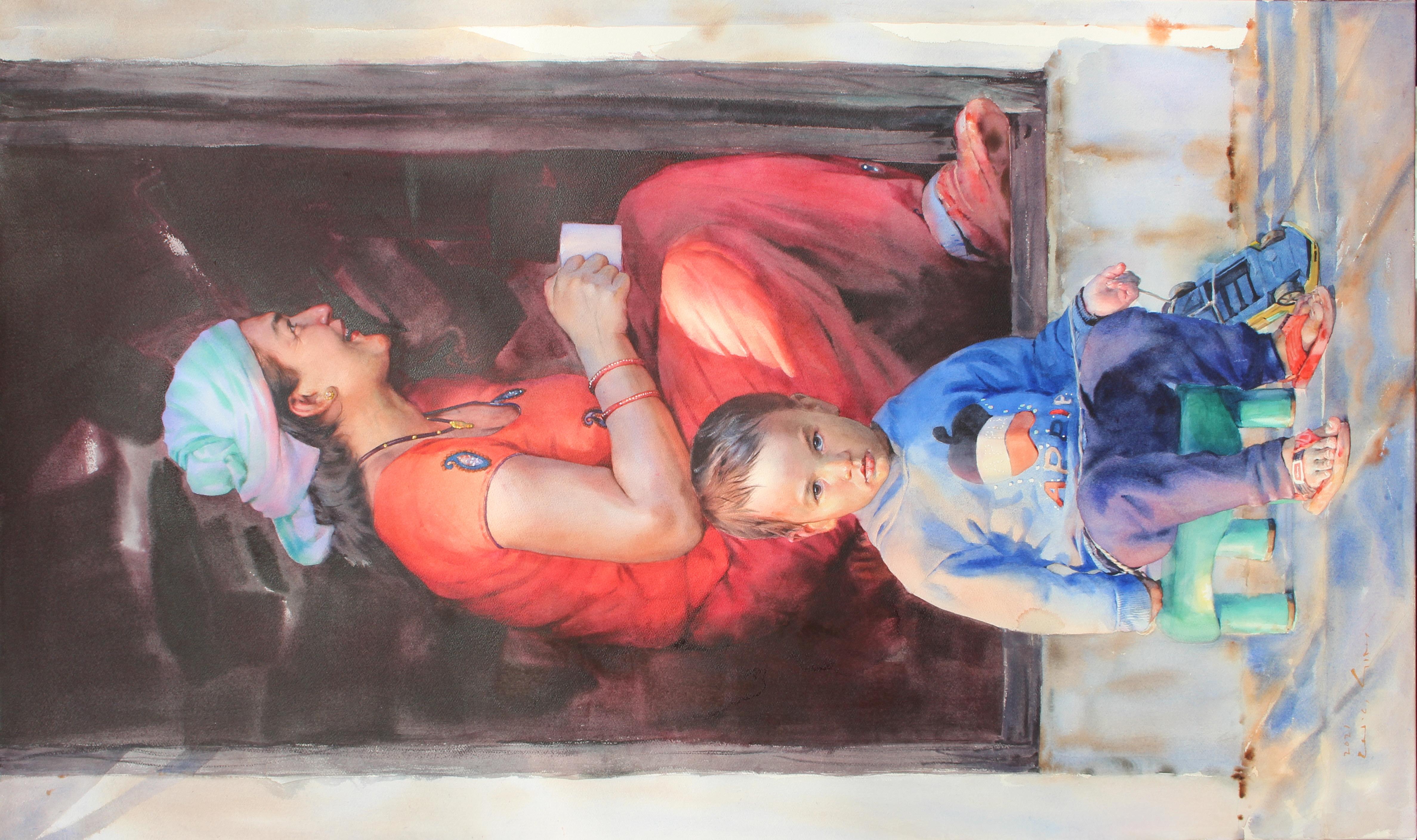011, 심우채, 삶-여백2101, 162.2 x 97