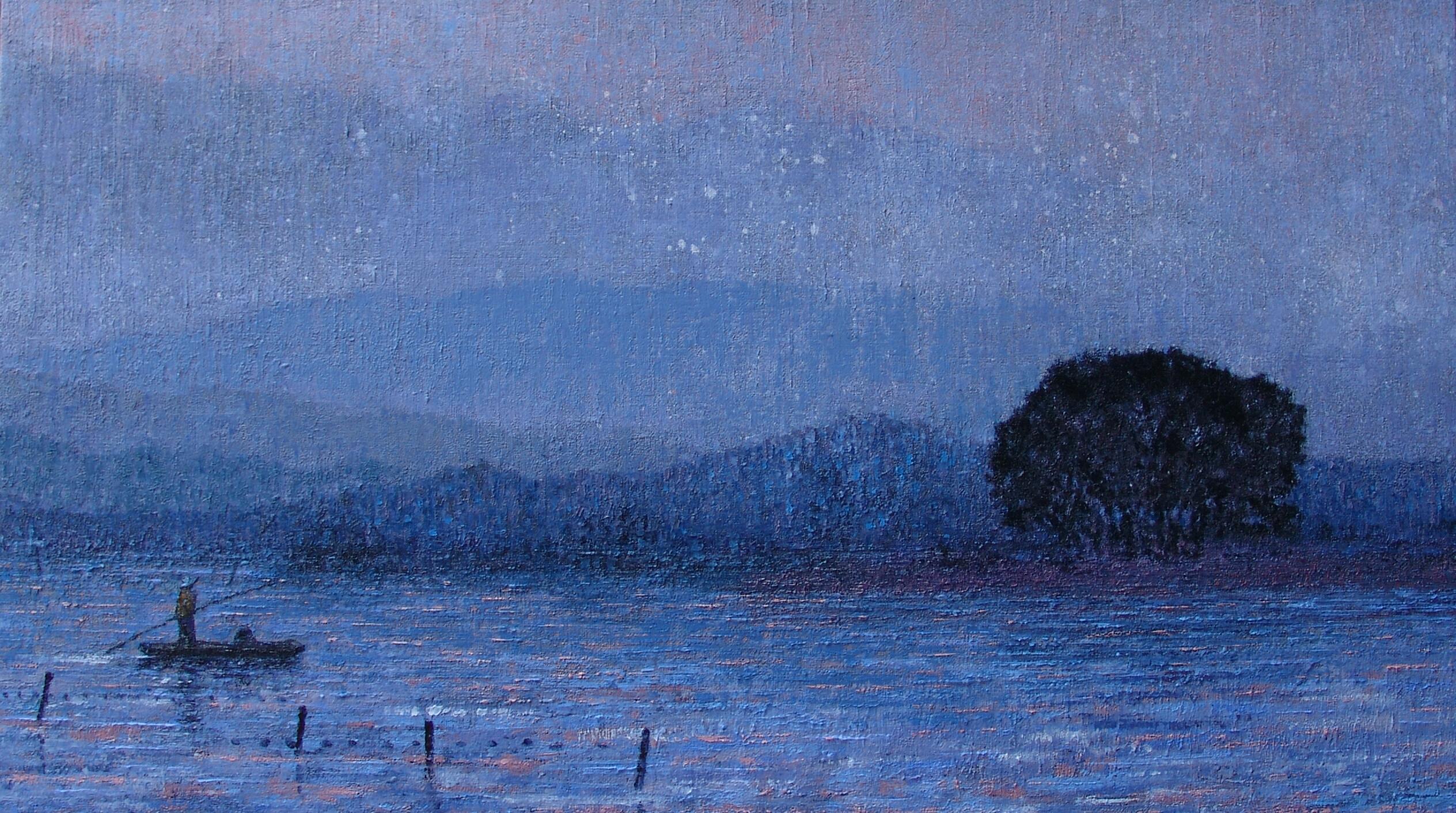 우포늪 이야기ㅡ흐르는 시간, 72.7×40.9cm, Oil on canvas, 2016