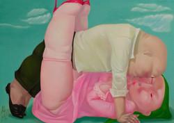 우연-몸 91x65 oil on canvas 2019