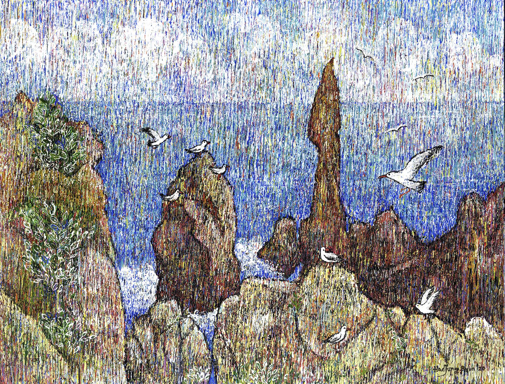변해정1, 추암 촛대바위, 50.0 x 65