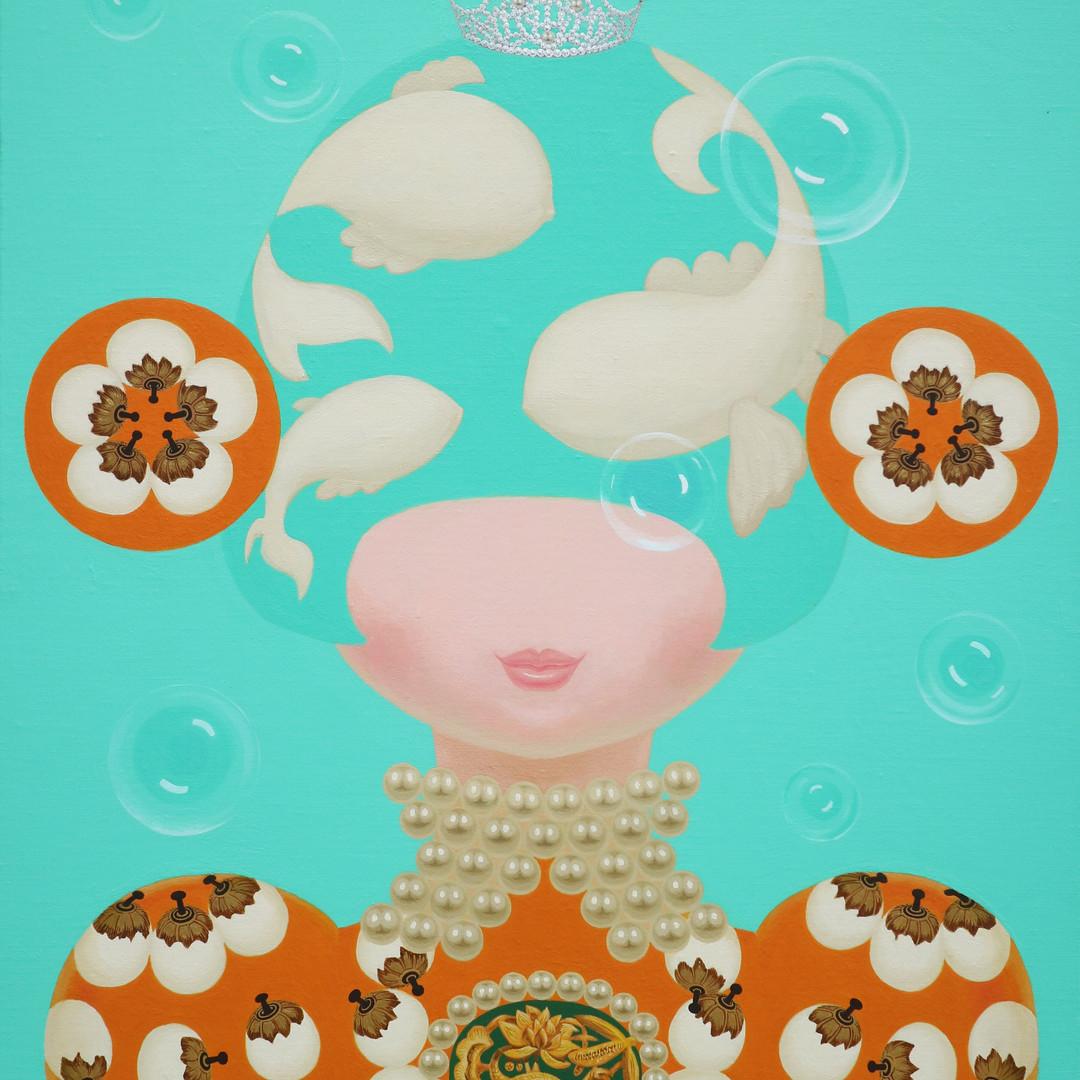 003 분첩공주-06 72.7 x 60.6 cm Acrylic on ca