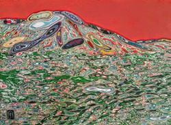 김재샌001, 바다,33.5x24.5cm, 혼합재료, 2017 (2)