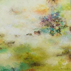 016, 권영범, 어떤여행 (un Voyage), 43 x 43 cm, Oil on canvas, 2021, 250만원
