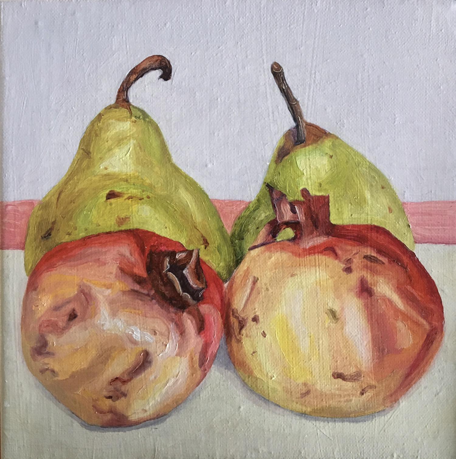 013, 석류와 배, 20 x 20 cm, oil on canvas, 2