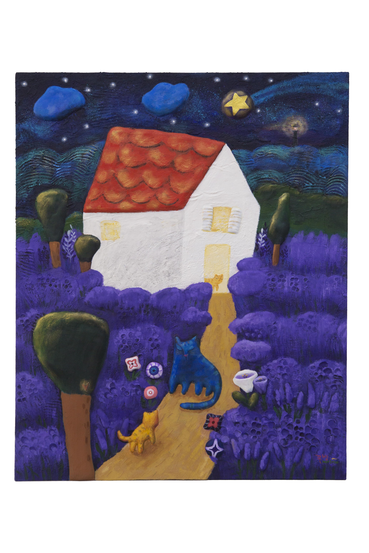 구채연2, 꽃밤,  65.1 x 53