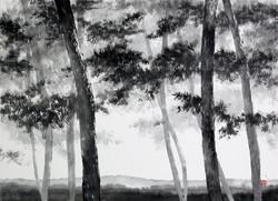 송승호_송뢰, 73x53cm, 화선지에 수묵, 2014-1