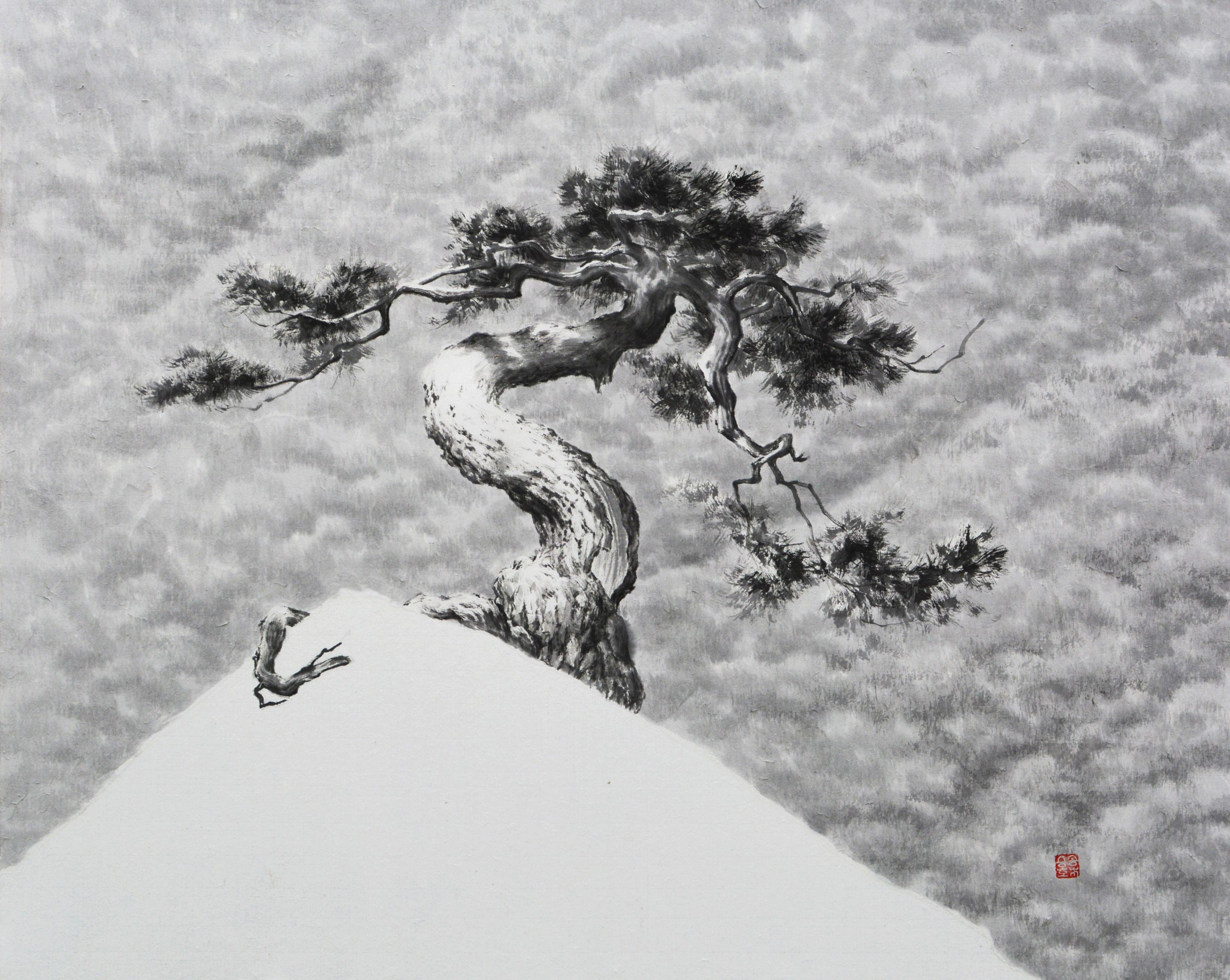 송승호-송뢰. 65.5x53cm. Muk on HanJi. 2014