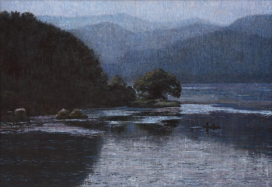 우포늪이야기-흐르는시간 97x162.2cm oil on canvas 2016 2000만원 (2)