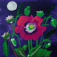 017 민해정수, 양귀비, 31.8 x 31.8 cm, acrylic o