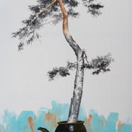4번 2015,송뢰-초근목피,Muk Acrylic on HanJi,117
