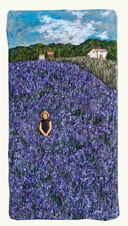 012, 이지숙, 찰나-꽃대마을, 85 x 50 x 7