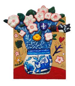 구채연1, 봄처럼 내게와, 49.0 x 53.5 cm, Mixed