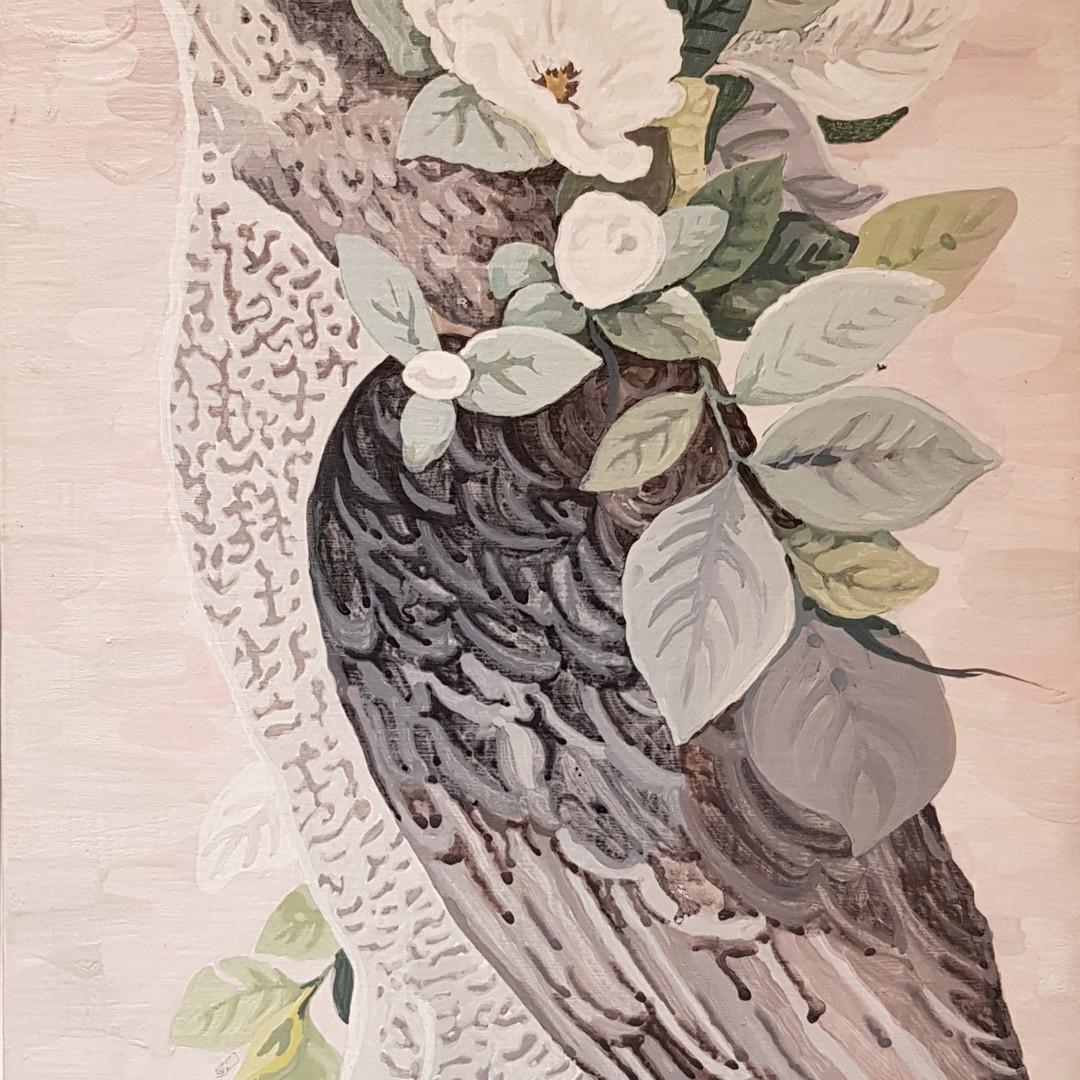 017, 박계숙, 나르시스의 정원-13, 23 x 34 cm, 캔버스에