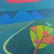 011, 차명주, 밤 길, 27.3 x 34.8 cm, oil on ca