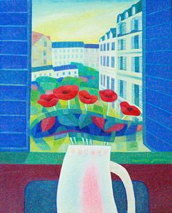 창밖의 몽빠르나스.65.1×53.0.oil on canvas.2014