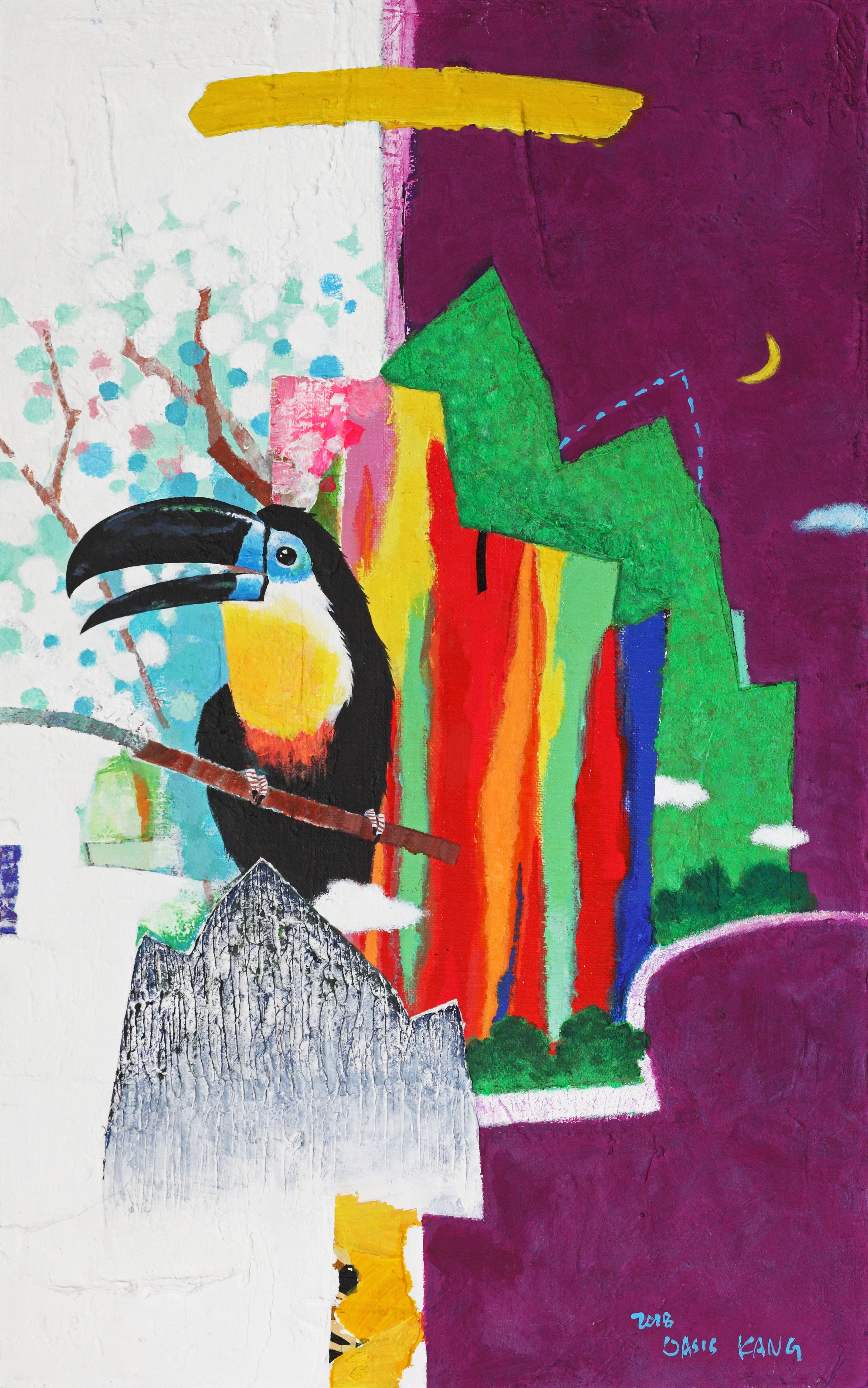 강라희 3 Oasis-The Way1 Life, 33x53cm, Mixe
