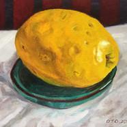 009, 모과5, 20 x 20cm, oil on canvas, 2020