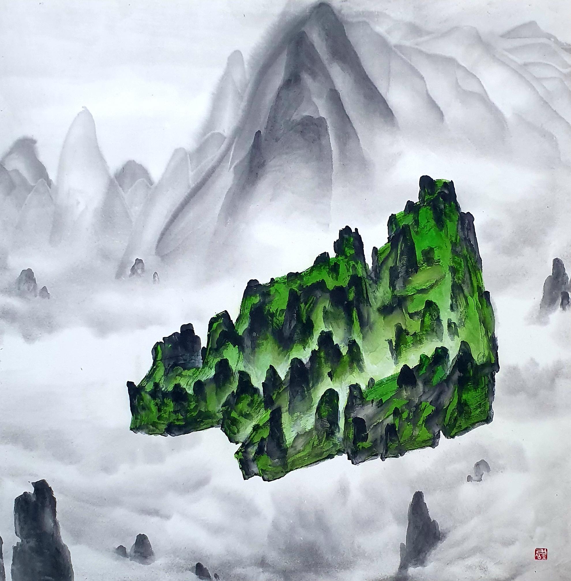 001, 김성호, 내 마음 쉴 곳, 68.5 x 69