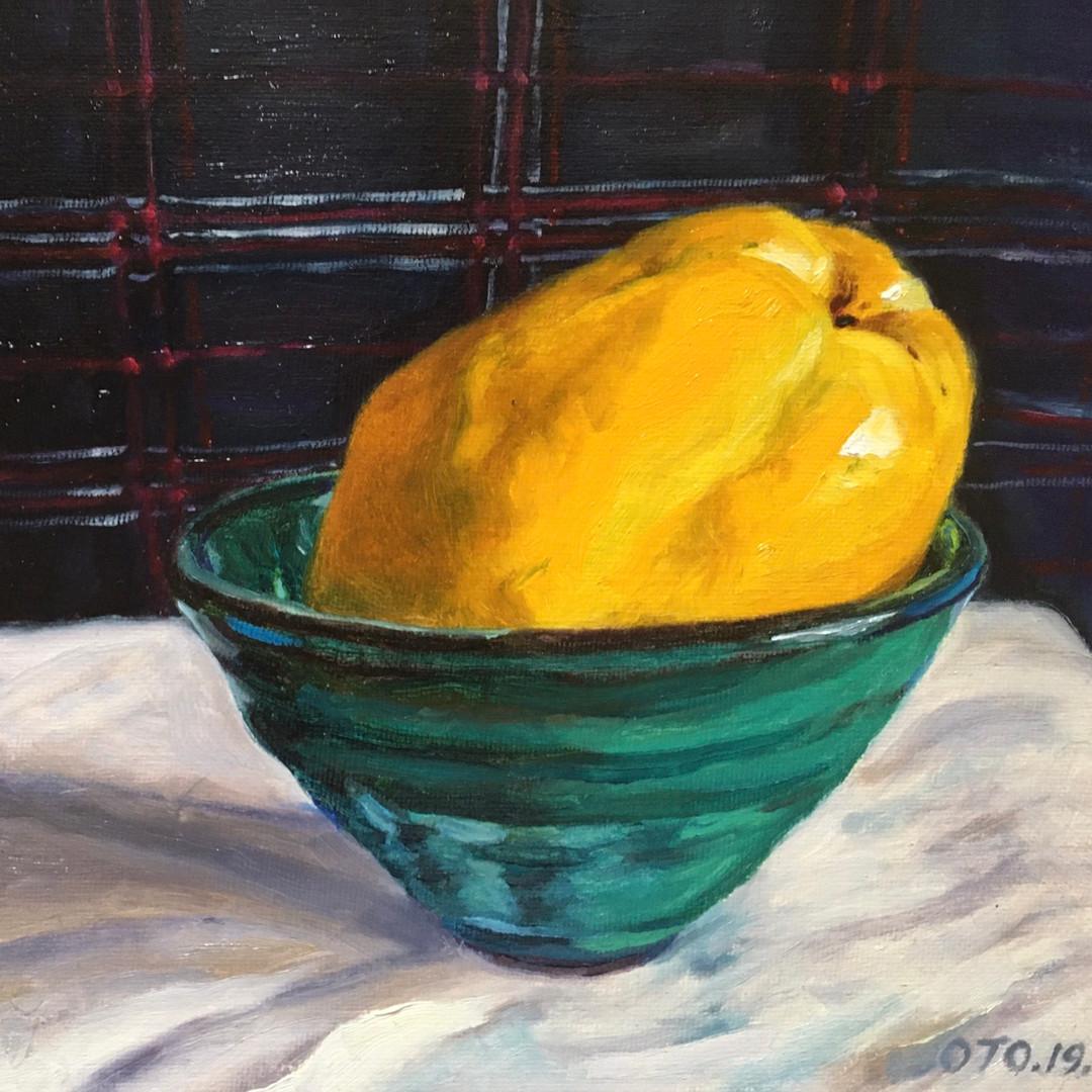 017, 모과4, 20 x 20 cm. oil on canvas, 202