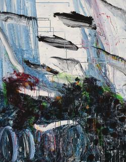 017, 정의철, 흑석동풍경, 116.8 x 91.0 cm, Acrylic, 2021, 600만원