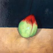 006, 한 개의 천도 복숭아, 20 x 20 cm, oil on can